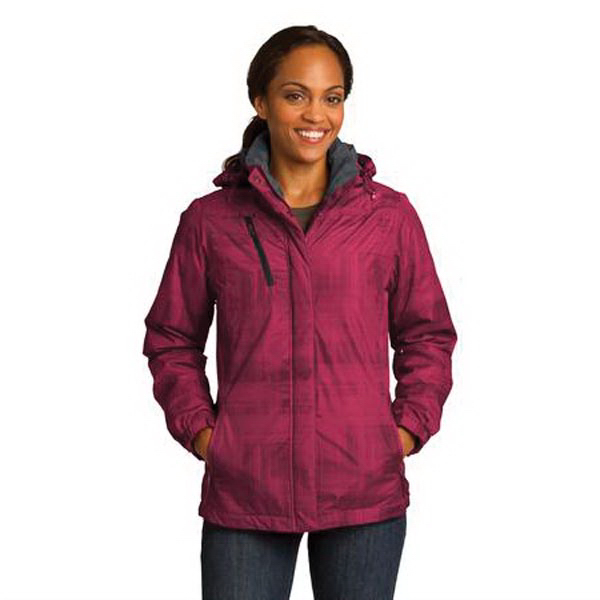 Imprinted Port Authority (R) Ladies Brushstroke Print Insulated Jacket