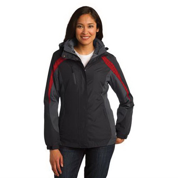 Printed Port Authority® Ladies' Colorblock 3-in-1 Jacket