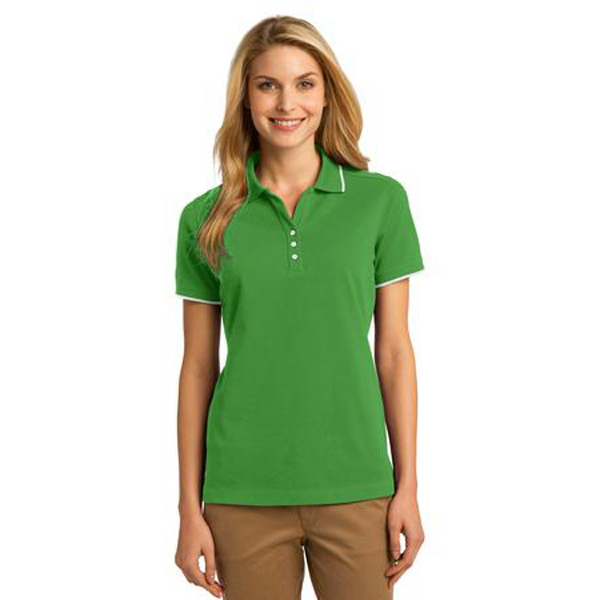 Personalized Port Authority® Ladies' Rapid Dry Tipped Polo