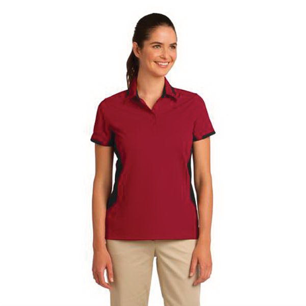Imprinted Port Authority® Dry Zone colorblock ottoman sport polo