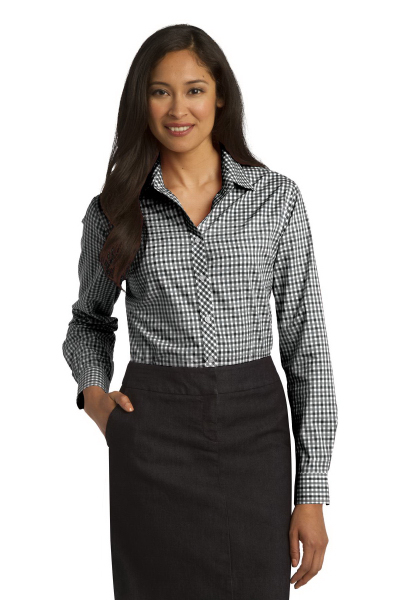 Promotional Port Authority (R) long sleeve gingham easy care shirt