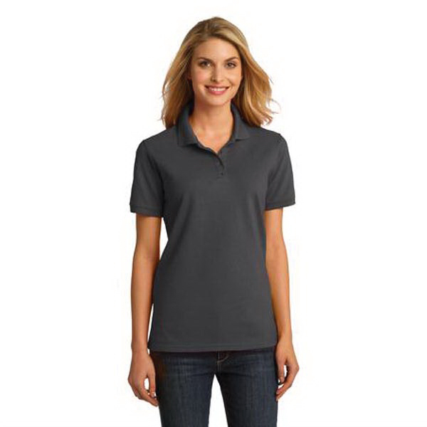 Printed Port & Company (R) Ladies' Ring Spun Polo Shirt