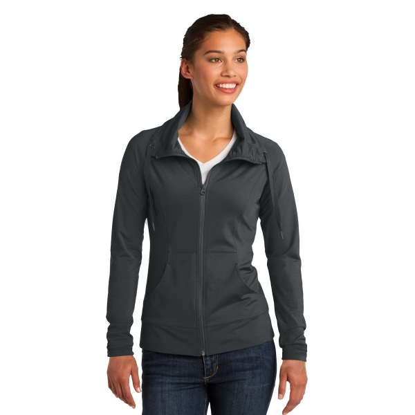 Printed Sport-Tek® Ladies' Sport-Wick® Stretch Full-Zip Jacket