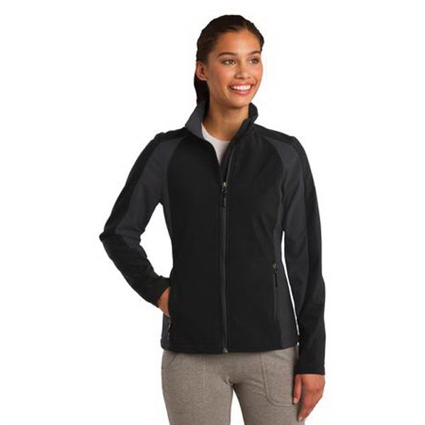Custom Sport-Tek (R) Ladies' Colorblock Soft Shell Jacket