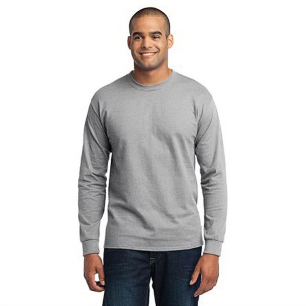 Imprinted Port & Company (R) long sleeve 50/50 cotton/poly t-shirt