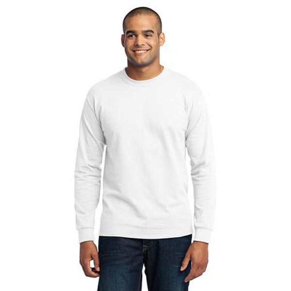 Custom Port & Company (R) long sleeve 50/50 cotton/poly t-shirt