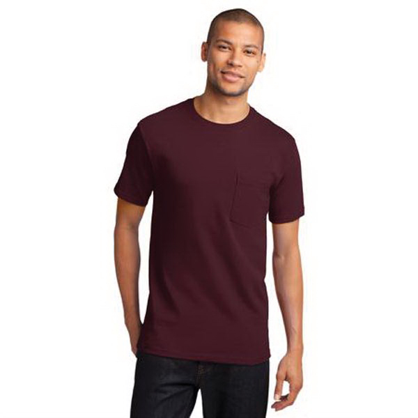 Personalized Port & Company® essential t-shirt with pocket