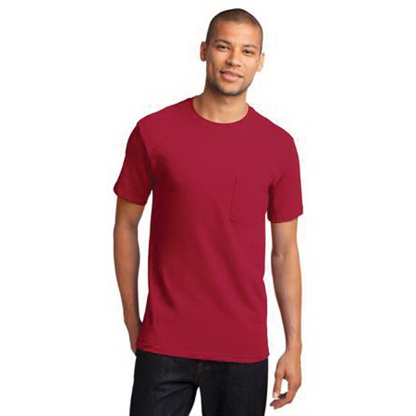 Custom Port & Company (R) Essential T-Shirt With Pockets