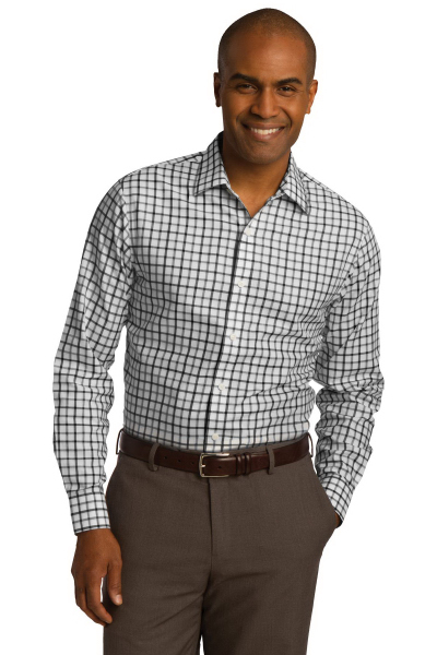 Custom Red House® TriColor Check Slim Fit Non-Iron Shirt