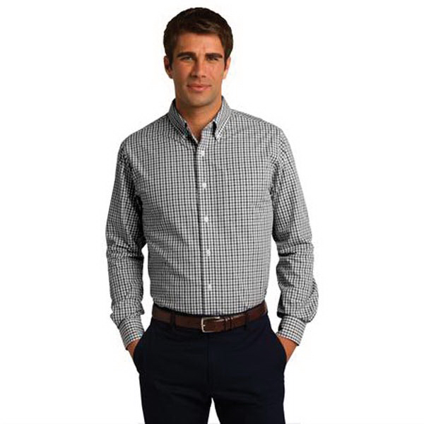 Customized Port Authority (R) long sleeve gingham easy care shirt