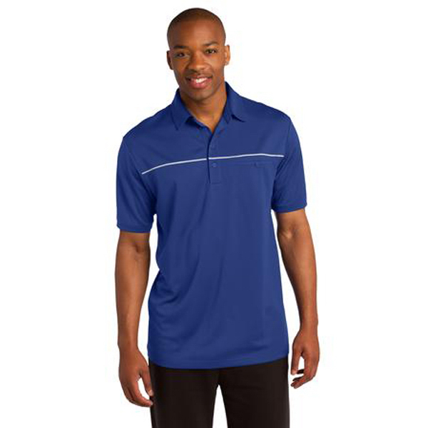 Printed Sport Tek PosiCharge Micro Mesh Piped Polo