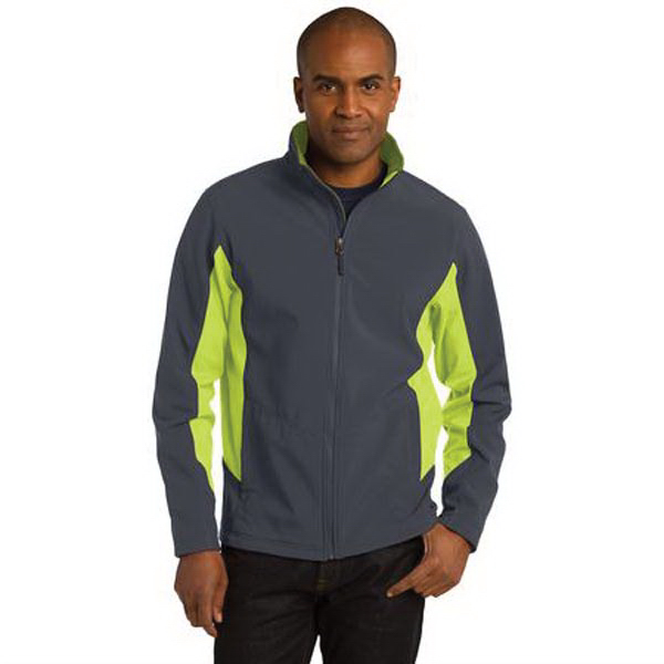 Imprinted Port Authority (R) core colorblock soft shell jacket