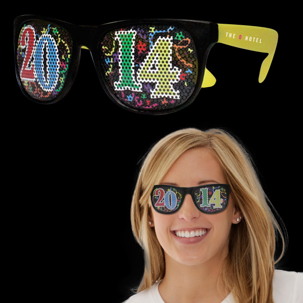 Personalized 2014 Neon Yellow Billboard Sunglasses