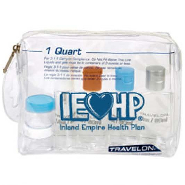 Promotional Travelon (R) 1 QT Zip-Top Bag With Bottles