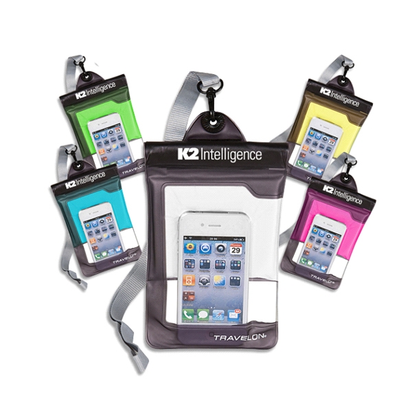Imprinted Travelon (R) clear view waterproof pouch