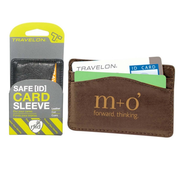 Custom Travelon (R) safe ID leather card sleeve