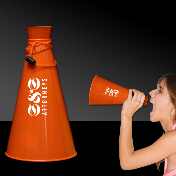 "Customized 9"" Plastic Megaphones"