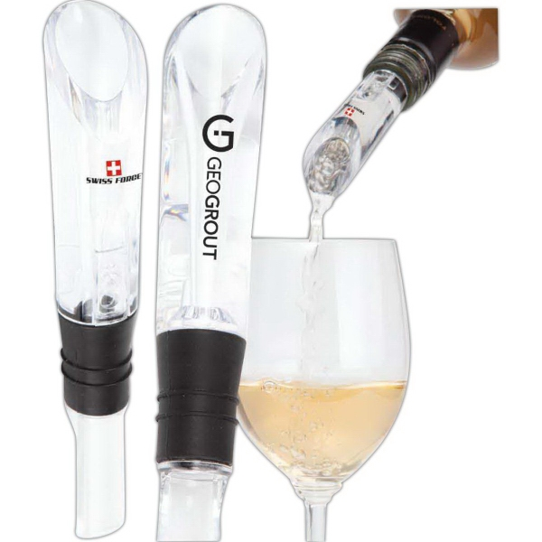 Customized The Swiss Force Epicurean Mini Wine Aerator And Pourer