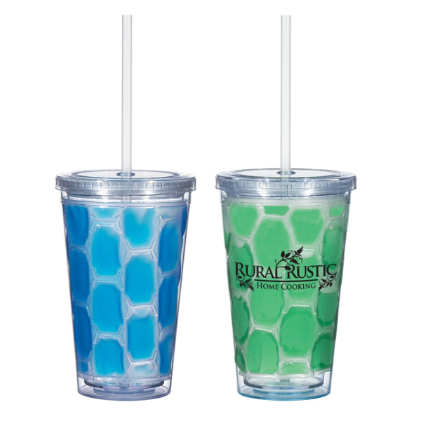Printed 16 oz. Double Wall Cool-N-Go Tumbler