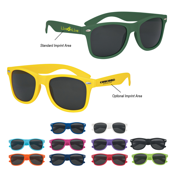 Personalized Soft-Touch Matte Sunglasses