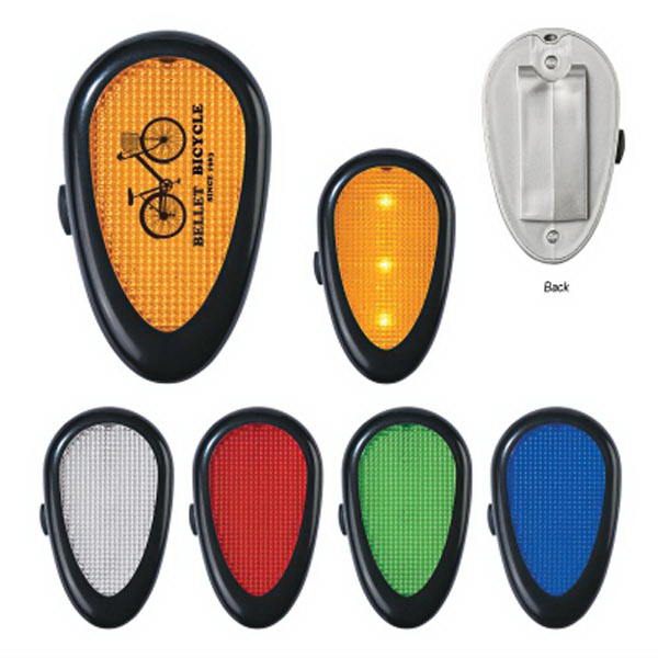 Personalized Tri-Function reflector light with clip