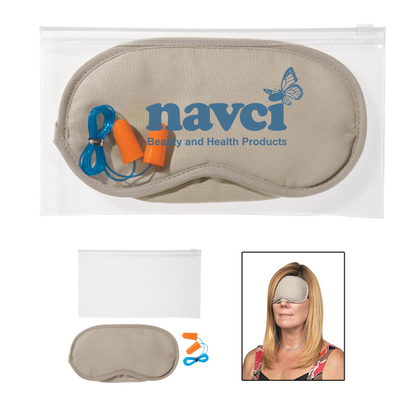 Customized Ear Plugs and Eye Mask Set