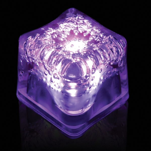 Customized Purple Light Up Premium LitedIce Brand Ice Cube, Blank