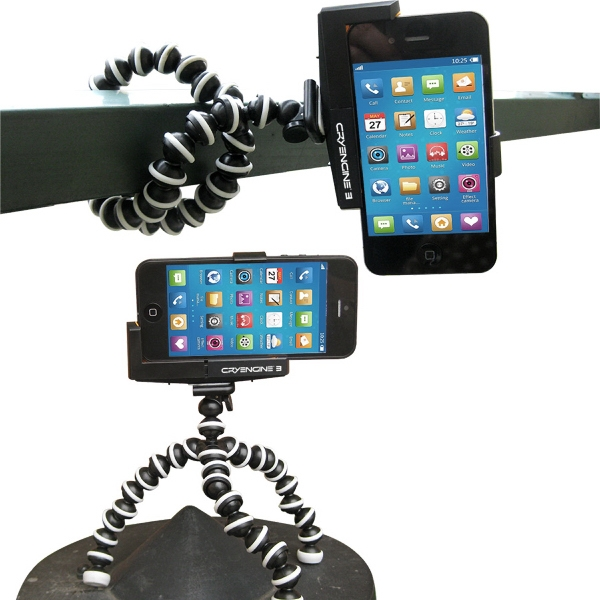 Imprinted Flexible Tripod + Bracket Adaptor For Smart Phones