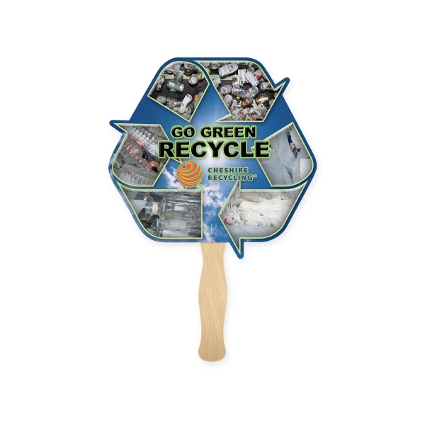 Promotional Eco Symbol Shaped Thrifty Fan