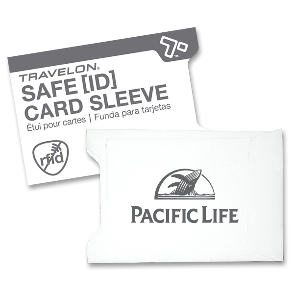 Customized Travelon (R) Set of 2 Safe ID RFID Blocking Card Sleeves
