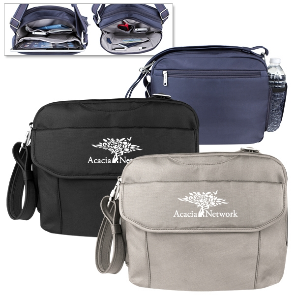 Personalized Travelon (R) Anti Theft Classic East/West Messenger