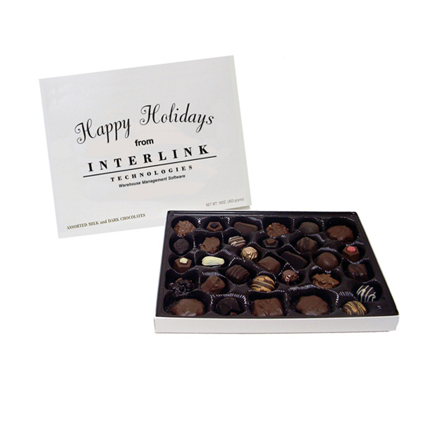 Imprinted Asher Assorted Milk & Dark Chocolates Box