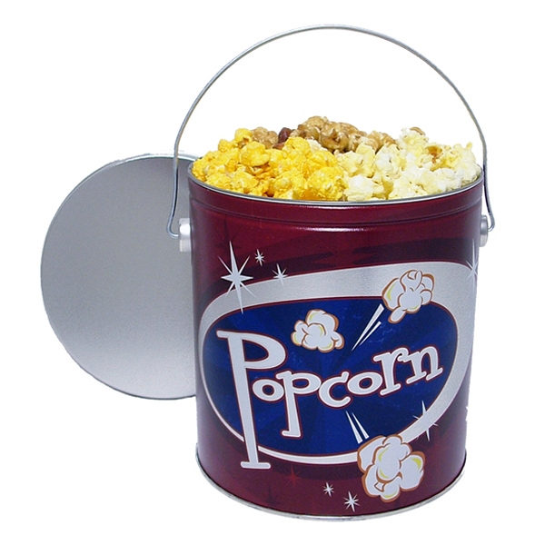 Personalized 3-way Popcorn in  1 Gallon Designer Tin