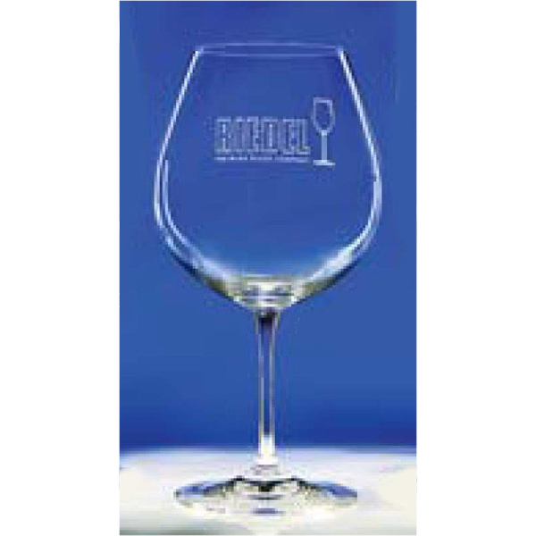 Printed 24.75 oz Lead Crystal Vinum Burgundy Wine Glass