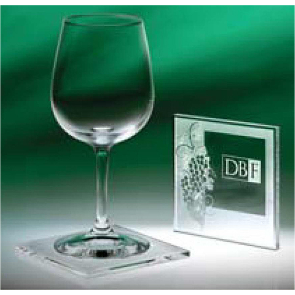 Printed Abella Wine Coasters - Set/4