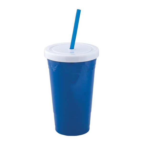Customized 600 ml (20 oz) Acrylic Tumbler with Straw