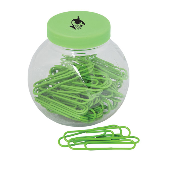 Custom Paper Clips In A Container