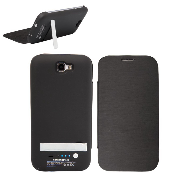 Customized E-Z Import (TM) External Battery and Case for Galaxy Note II