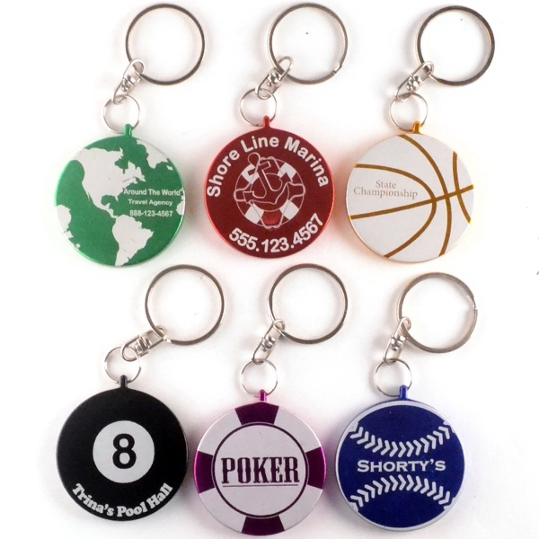 Promotional Round Metal Key Chain