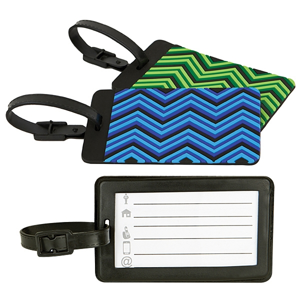 Custom Travelon (R) Set of 2 Luggage Tags, Zig Zag