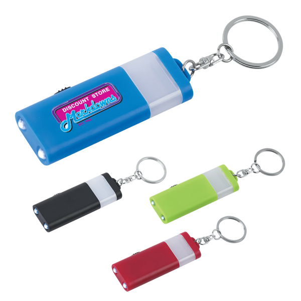 Printed LED Camping Light and Key Ring