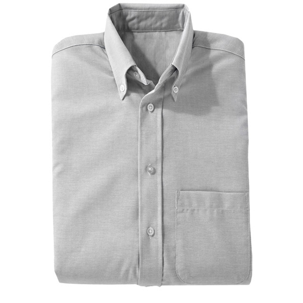 Customized Men's Easy Care Long Sleeve Oxford Shirt