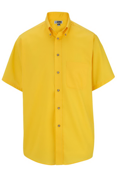 Promotional Men's Easy Care Short Sleeve Poplin Shirt