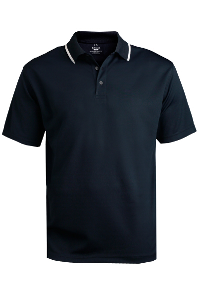 Printed Men's Tipped Collar Dry-Mesh Hi-Performance Polo