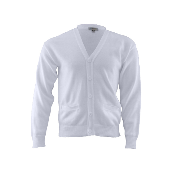 Promotional V-Neck Pocket Cardigan Sweater With Tuf-Pil (R) Plus