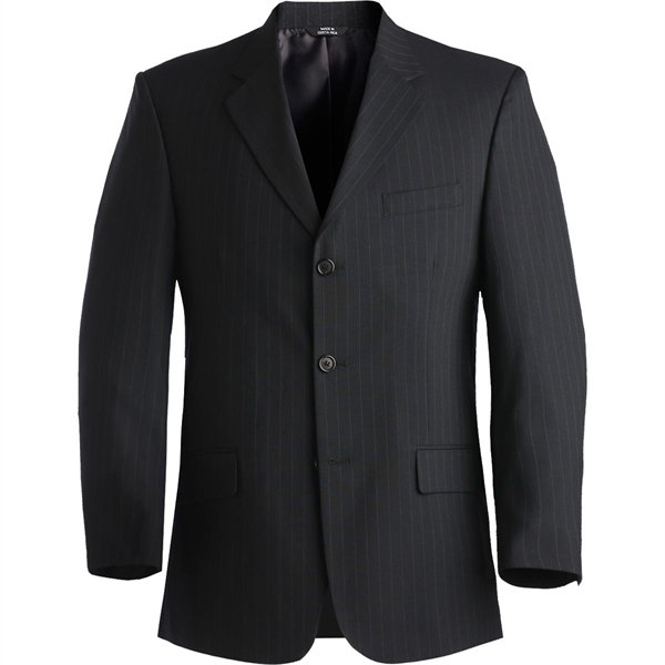 Printed Men's Pintstripe Wool Blend Suit Coat