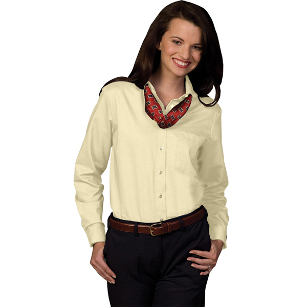 Promotional Women's Long Sleeve Dress Button Down Oxford Shirt