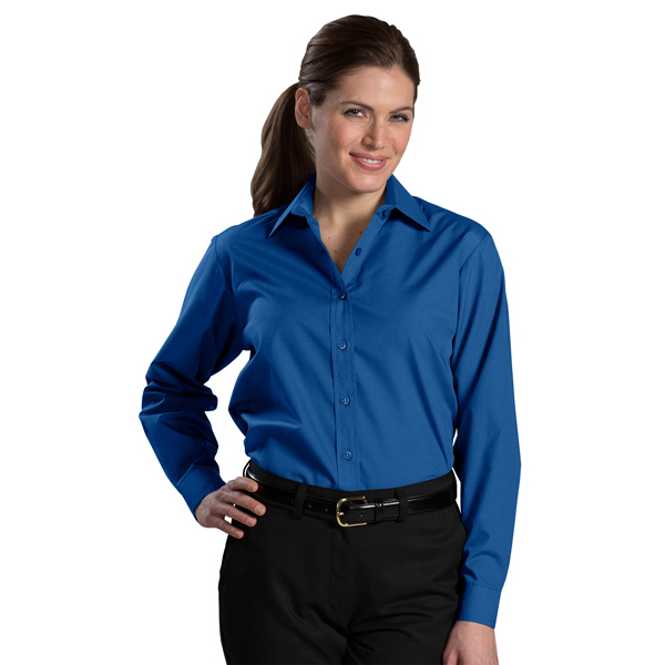 Promotional Women's Long Sleeve Value Broadcloth Shirt