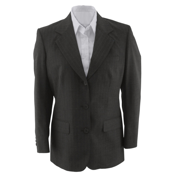 Promotional Women's Pinstripe Wool Blend Suit Coat