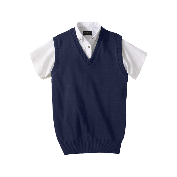 Imprinted Jersey Stitch V-Neck Vest
